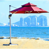 Hot sale customize logo patio Garden Parasol Beach Umbrella Outdoor Hotel Seaside Umbrella