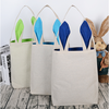Easter bunny baskets Canvas tote bags