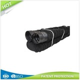 Flex Drain, Expandable, Perforated Black Polyethylene, 4-In. x8-Ft.