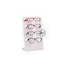 Customized Countertop White Acrylic Sunglasses Display Rack