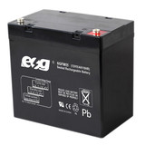 ESG HOT SALE 12v55ah storage lead acid  hybrid car battery