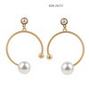 Hoop E06-26251  cubic zirconia stud earrings  dangly drop earrings