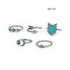 Ring Set R06-9297  crystal rings  ceramic fashion rings