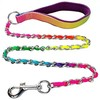 Kingtale Pet suppliers Rainbow Dog chain walking lead leash clip with Nylon handle pet accessories
