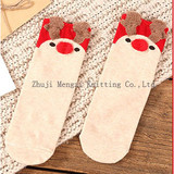 Red Socks for the Year of Pig 2019 All Cotton Cute Three-dimensional Ear Cartoon for Men and Women