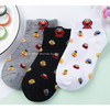 Short socks female pure cotton cartoon autumn and winter socks wholesale odor-proof sweat-absorbing three-dimensional ear manufacturers wholesale