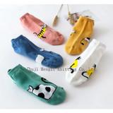 Women's Boat Socks Short Tube Low Band Leisure Cartoon Fashion Women's Socks Skid-proof Sweat Absorbing Cute Girls Korean Socks Manufacturer