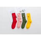 Wish  sells cross-border explosive fruit embroidery pile socks, pure cotton socks/ women's socks