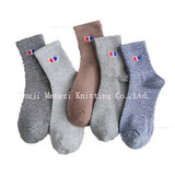 Autumn socks, men's red and blue embroidered cotton, men's Korean version of campus wind socks factory direct sales