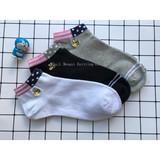 Export pure cotton embroidered bee socks, socks, sports socks, boat socks, all adult socks