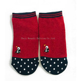 Good Things Recommend Adult Girls'Hosiery Cute Japanese Boat Hosiery in Winter Two pairs of thick shallow socks embroidery