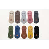 Boat stockings, female cotton, shallow mouthpiece, low-help Korean bears, silicone slip-proof invisible socks, children's socks, ladies'spring and summer cotton