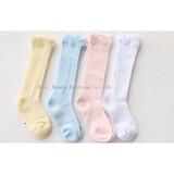 Children's socks spring and autumn thin cotton baby socks mesh knee-padded stockings baby mosquito-proof socks wholesale