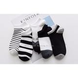 Socks Men Spring Thin Socks, Low Band, Shallow Mouth Cotton Socks, College Air Short Socks, Socks, Men