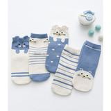 Children's socks wholesale Mengzi knitted cotton three-dimensional cartoon striped socks in autumn and winter