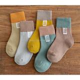 Children's socks autumn new socks wholesale cotton socks 3-5-7-9-12 years old children's socks factory