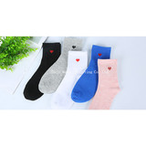 Women Socks, Spring and Summer Cotton Love Heart Socks, Pure-color Leisure Sports Socks, Foreign Trade Socks Factory Wholesale