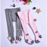 Spring and autumn cotton baby pantyhose, baby socks, baby socks, large PP pants for children to wear open crotch