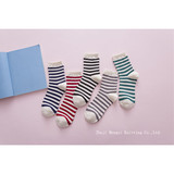Korean Cotton Socks, Fine Stripes, Adult Socks, Female Socks, All-Cotton Women's Casual Socks Factory Wholesale