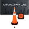 collapsible led light foldable traffic cone