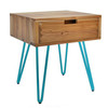 China Natural Edge End Table Wood Side Table Nightstand with Drawer wholesale