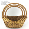 wicker basket with customer size