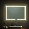 UL ETL CE Luxury Hotel Frameless Custom Decorative Wall Mount Shower Bath Bathroom LED Lighted Vanity Mirror