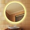 Round Touch Vanity Led Bluetooth Speaker Bathroom Magic Mirror With Digital Clock