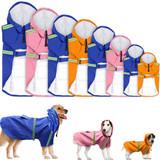 Waterproof Big Dog Raincoat Pet Reflective Dog Raincoat