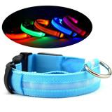 Adjustable Led Dog Collar, Led Flashing Light Pet Dog Collar