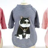2019 fashion striped summer dog clothes pet dog print t shirt