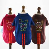 Dog Head Printing Dog Polo Shirts Large Dog Clothes XXL-6XL