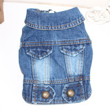 New fashion pets dog clothes press button jean waistcoat vest with two bags for four seasons