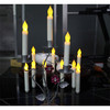 12pcs Yellow Light Flickering LED Taper Candles White Realistic Wax Drip LED Taper Candles