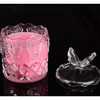 Romantic Aromatherapy Crystal Glass Jar Soy Wax Candles