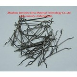 Cold draw hook end stainless steel fiber