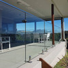 Stainless steel spigots glass railing systems for deck / balcony / swimming pool
