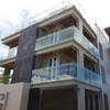Stainless steel standoff glass railing systems for deck / balcony / swimming pool