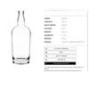 750ml general liquor bottle 75cl high flint Custom glass bottles