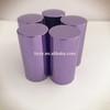 Shiny purple perfume bottle cap aluminum uv cover