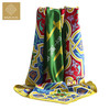 Custom Traditional Chinese Fashion Ladies Square Printed Silk Satin Scarves