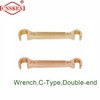 Non sparking wrench C-Type Double-end Al-cu Be-cu safety hand tools
