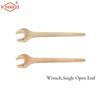 Wrench Single Open End non sparking Aluminum bronze and beryllium bronze 8mm