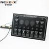 NEKEKE 12V/24V/125V/250V Waterproof LED Rocker 6 gang DC/AC Switch Panel with dual port USB socket power socket Car Marine Boat