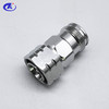 RF coaxial connector mini DIN 4.3/10 male to female adapter connector