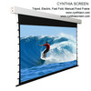 Cynthia Tab-tension Front Projection Motorized Screen 120-inch Diagonal 16:9 Tensioned Electric Drop Down Projection Screen