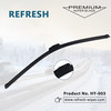 Automobile flat wiper blade with good quality HY-003