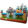 Dog partol giant inflatable bounce house for kids outdoor games inflatable slide
