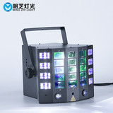 MFL Stage Light E6 2PCS* 3W Laser Light Color RGBWY UV Rotating Lamp for DJ Party Xmas Wedding