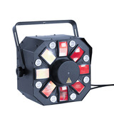 E8 50W Derby LED RGBAP 8/9/10 Channels LED Stage Party Laser Light Sound Activated and Dmx-512 Controlled for Dj Bar Disco